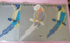 New listing Lot of 3 Vintage McCall'S Large Parrot Appliques with Beads/Sequins Blue & Tan