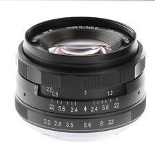 Meike 50mm F2 Large Aperture Manual Focus MF Prime Lens For Olympus M4/3 Mount