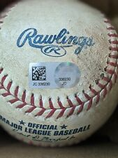 MLB Authenticated game used baseball Twins vs Indians August 30,2018