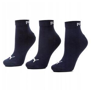 Puma 3 Pack Trainer Socks Unisex Shoe Liner Navy 906978 22