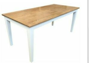 French Provincial  Hamptons solid  Oak Dining Table with White legs or natural