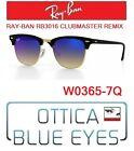 Occhiali da SOLE RAYBAN RB3016 CLUBMASTER REMIX 7Q Sunglasses Ray Ban Black Blue