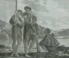 FAMILLE DANS LA BAIE DUSKY EN NOUVELLE ZELANDE Voyage Capitaine James COOK 1778