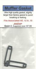 Team Associated AE .12 & .15 Exhaust/Muffler Gasket 2 Pack NIP