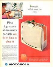 1960 Motorola Transistor Portable TV Television PRINT AD