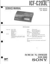 Sony  Original Service Manual für ICF- C 203 L