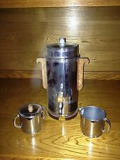 Art Deco Electric Coffee Pot w/ Sugar/Creamer
