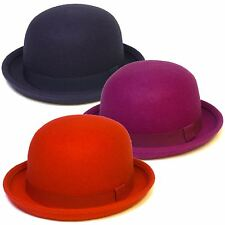 Wool Felt Soft Bowler Hat