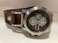 Fossil Chronograph JR1157 Wrist Watch for Men With Brown Leather JR-1157