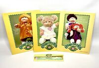 Lot of 3 Vintage 1984 Cabbage Patch Kids Folders and Pencil Collectible Set Rare