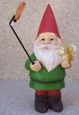 "Garden Accent Free Standing Gnome with a Selfie Stick NEW 10 1/4"" tall"