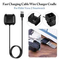 Base de carga magnética Cargador Base USB Cable para Fitbit Versa 2 Smartwatch