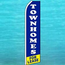 Townhomes For Lease Flutter Flag Tall Real Estate Sign Feather Swooper Banner