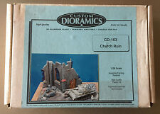 CUSTOM DIORAMICS CD 103 - CHURCH RUIN - 1/35 RESIN CERAMIC KIT
