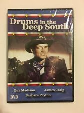Drums In The Deep South (DVD, 2004) Brand NEW Sealed Classic Guy Madison Film