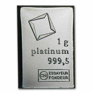 1 Gram Fine Platinum Bar 9995 Pure Fine Bullion Valcambi From Combibar Sheet