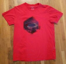 OAKLEY MENS LARGE REGULAR FIT SHORT SLEEVE RED T-SHIRT EXCELLENT CONDITION