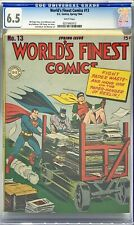 WORLD'S FINEST COMICS #13 CGC 6.5 : JACK KIRBY / BILL FINGER / JOE SIMON