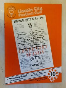 1982 LEAGUE CUP LINCOLN CITY v WEST HAM UNITED - 3rd Round 10th November