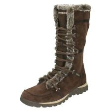 Botas de mujer de nieve marrones Skechers
