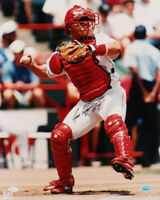 Ivan Pudge Rodriguez HOF Texas Rangers SIGNED Autographed 16x20 Photo (JSA COA)