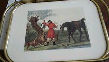Vassoio scena di caccia inglese in Bachelite