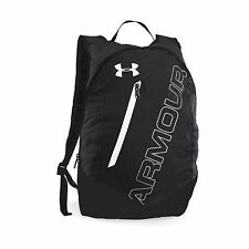 Under Armour Packable Backpack, Black/Silver, One Size