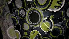 stoff jersey viskose grau & grün 100x140 cm