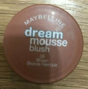 MAYBELLINE DREAM MOUSSE BLUSH POT SHADE 06 BROWN NEW