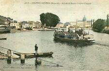 Carte CHATEAU GONTIER Arrivée du Bateau à Vapeur d'Angers