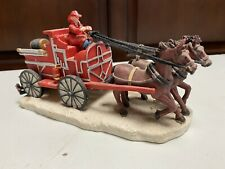 Dept 56 Christmas In The City- Fire Brigade Horse-Drawn Fire Patrol Firemen