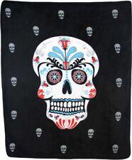 Sugar Skull Day of the Dead 50x60 Polar Fleece Blanket Throw Plush Soft