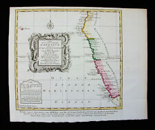 1748 VAN DER SCHLEY / BELLIN - rare map of WEST AFRICA, St. HELENA Isl. BENGUELA