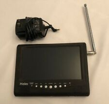 Haier HLT71, 7 Inch Portable LCD TV.  Has a great picture and fully portable!
