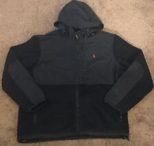 Polo Ralph Lauren Men's Black Denali Polartec Hooded Fleece Jacket Size XL