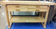 "Oak Hardwood Reloading Bench - 60"" - 4 Drawer - Sturdy Design, Easy Assembly!"