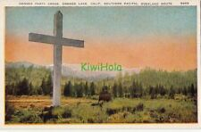 Postcard Donner Party Cross Donner Lake CA Southern Pacific Overland Route
