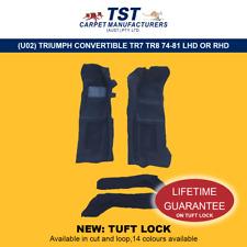 MOULDED CAR CARPETS (U02) TRIUMPH CONVERTIBLE TR7 TR8 74-81 LHD OR RHD