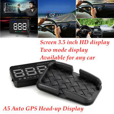 Screen 3.5 inch A5 Auto GPS HUD Car Alarm Detector Real Time Speedometer Clear