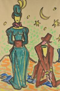 "k67v34- Erik LARSEN (1902-1975) Aquarell ""My Fair Lady"", sign. & dat. 1960"