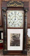Improved Clocks Antique Clock. Wooden Cogs. Jeromes' & Darrow. 1700s.