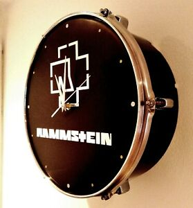 Rammstein Upcycled Drum Clock ###