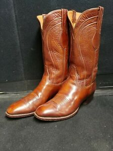 LUCCHESE CLASSICS SEVILLE GOATSKIN COWBOY BOOTS VERY NEAR PERFECT CONDITION 9.5E