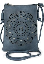Mini bolsa de hombro de las señoras recortes florales, Rhinestone, bolsa de homb