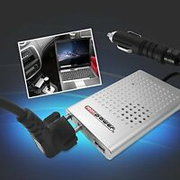 12V / 230V Spannungswandler 80-100 W, USB 2.0, platzsparend Profi Power