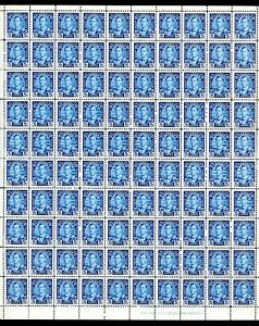 LOT 92210 MINT H 214 FULL SHEET KING GEORGE V SILVER JUBILEE PRINCE OF WALES