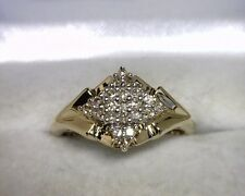 10K Yellow Gold Round Diamond Ring .25 TCW Size 7.25