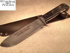 """12-1/4"""" OA 1999 J. Adams Sheffield England Fixed Blade Knife Leather Sheath"""