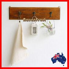 Rustic Oak Timber Over the Door Hook Cloth Coat Hat Garment Hanger A41