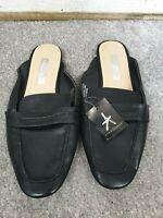 Atmosphere Ladies Black Flat Mule Loafer Shoes Size UK 5